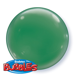 15 inch-es Green - Zöld Deco Bubble Lufi - 4 db-os