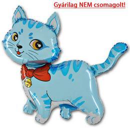 14 inch-es Blue Cat - Kék Cica Fólia Lufi (10 db/csomag)