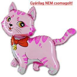 14 inch-es Rose Cat - Pink Cica Fólia Lufi (10 db/csomag)