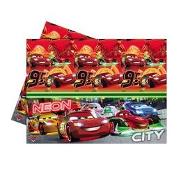 Cars Neon - Verdák Parti Asztalterítő - 180 cm x 120 cm