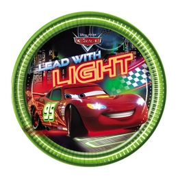 Cars Neon - Verdák Parti Tányér - 20 cm, 8 db-os