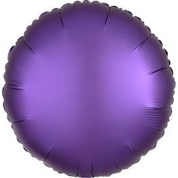18 inch-es Chrome Lila - Purple Kerek Fólia Lufi