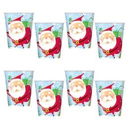 Colourful Santa Karácsonyi Pohár - 270 ml, 8 db-os