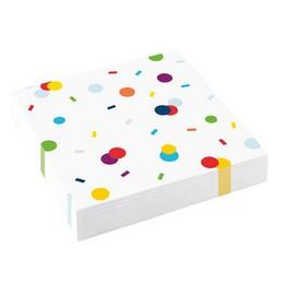 Confetti Birthday Parti Szülinapi Szalvéta - 33 cm x 33 cm, 20 db-os