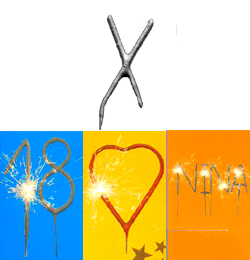 Betű Alakú Ezüst Csillagszóró - X