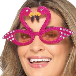 Csillogó Flamingó Parti Szemüveg