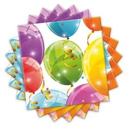 Csillogó Lufik - Sparkling Balloons Parti Szalvéta - 20 db-os, 33 cm x 33 cm