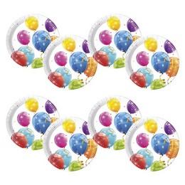 Csillogó Lufik - Sparkling Balloons Parti Tányér - 8 db-os, 23 cm