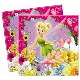 Csingiling - Fairies Springtime Parti Szalvéta - 33 cm x 33 cm, 20 db-os