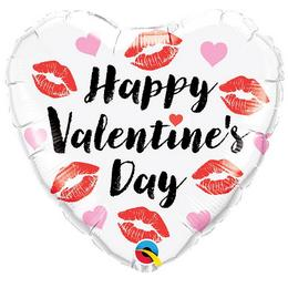 18 inch-es Happy Valentine's Day Kissey Lips Szív Fólia Lufi Valentin-napra