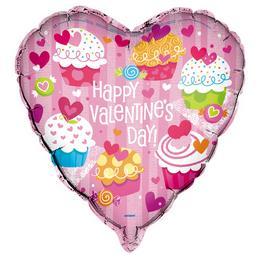 18 inch-es Cupcake Valentine Fólia Lufi