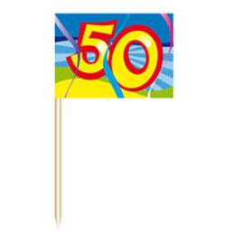 50-es Számos Falatka Pálcika Szülinapra - 50 db-os