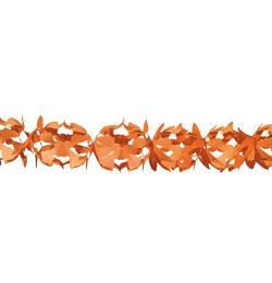 Narancs Dekorációs Parti Papír Füzér - 6 m
