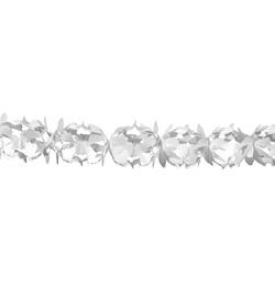 Fehér Dekorációs Parti Papír Füzér - 6 m