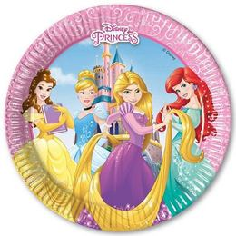 Hercegnők - Princess Heart Strong Parti Tányér - 20 cm, 8 db-os