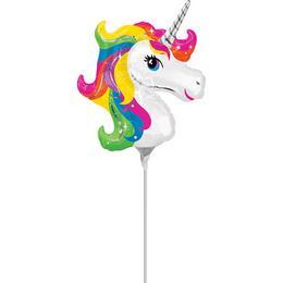 Rainbow Unicorn - Egyszarvú Mini Shape Fólia Lufi (5 db/csomag)