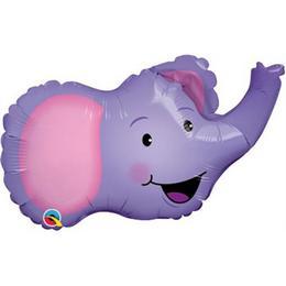 14 inch-es Elefánt Fej - Ellie the Elephant Fólia Lufi (5 db/csomag)