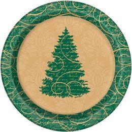 Elegáns Karácsonyi Tányér - 17 cm, 8 db-os