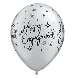11 inch-es Engagement Elegant Sparkles Lufi Eljegyzésre (6 db/csomag)