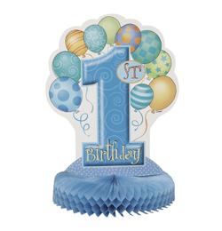 First Birthday Balloons Blue - Első Szülinapi Parti Asztaldekoráció