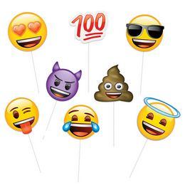 Emoji Kiegészítő Szett Pálcán Fotózáshoz - 8 db-os