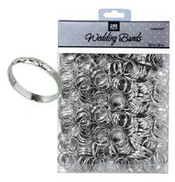 Ezüst Karikagyűrű Esküvői Asztaldekoráció - 288 db-os