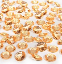 Arany Gyémánt Alakú Kristály hatású Dekorkő - 100 db-os