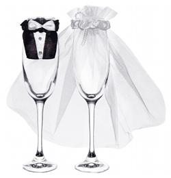 Esküvői Pohárruha Szett - 2 db-os
