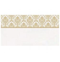 Esküvői Fehér Ültetőkártya Arany Mintával - 25 db-os