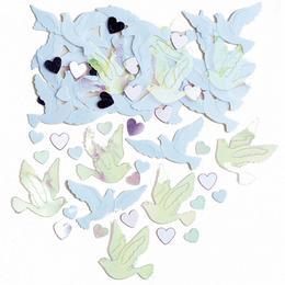 Esküvői Galambok és Szívek Konfetti - 14 gramm