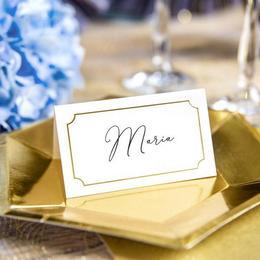 Esküvői Ültetőkártya Arany Kerettel - 10 db-os