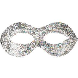 Ezüst Glitteres Szemálarc