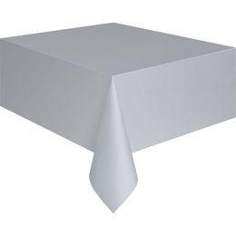 Silver Műanyag Parti Asztalterítő - 137 cm x 274 cm