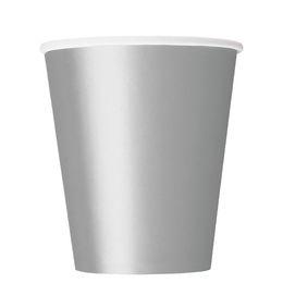 Silver Papír Parti Pohár - 270 ml, 8 db-os