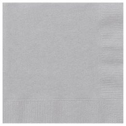 Silver Papír Parti Szalvéta - 33 cm x 33 cm, 20 db-os