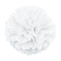 Fehér Bolyhos Függő Dekoráció - 41 cm