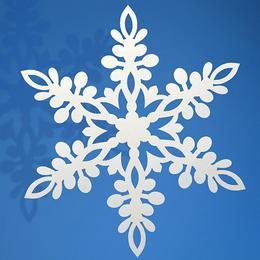 Fehér Hópehely Dekoráció - 13 cm-es, 10 db-os