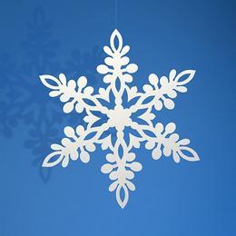 Fehér Hópehely Dekoráció - 9 cm-es, 10 db-os
