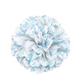 Fehér Hópehely Mintás Bolyhos Függő Dekoráció