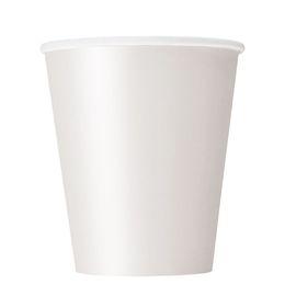 White Papír Parti Pohár - 270 ml, 8 db-os
