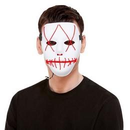 Fehér Piros LED-es Világító Maszk Halloween-re