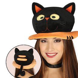 Fekete Macska Kalap Halloween-re
