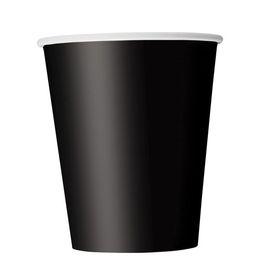 Black Papír Parti Pohár - 270 ml, 8 db-os