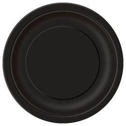 Black Papír Parti Tányér - 23 cm, 8 db-os