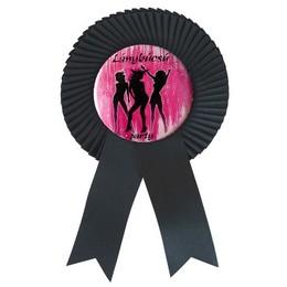 Fekete Szalagos Lánybúcsú Party Kitűző