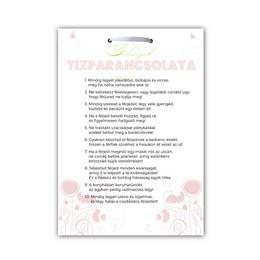 Feleségek Tízparancsolata Lánybúcsús Ajándék Tábla