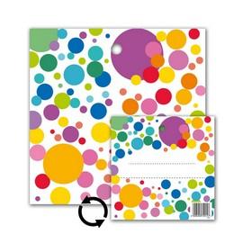 Feliratozható Színes Konfettis Környezetbarát Léggömbsúly - 16 gr. (10 db/csomag)