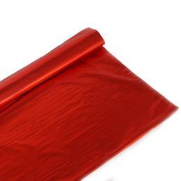 Metál Fényes Piros Színű Fólia Csomagoló - 1 m x 20 m