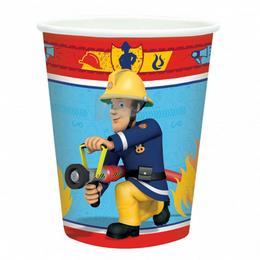 Fireman Sam - Sam a Tűzoltó Parti Pohár - 270 ml, 8 db-os