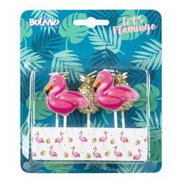 Flamingó és Ananász Gyertya Szett - 5 db-os